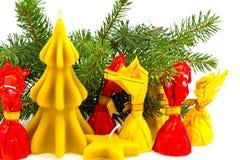 Do Natal vida ainda com velas da cera de abelha Fotos de Stock Royalty Free