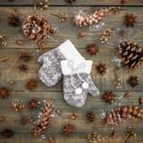 Do Natal vida ainda Configuração lisa Vista superior Foto de Stock