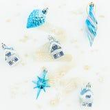 Do Natal vida ainda Configuração lisa Vista superior Imagens de Stock