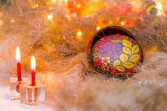 Do Natal vida ainda no estilo do russo Imagens de Stock