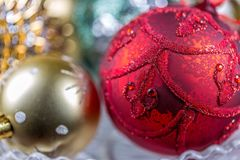 Do Natal vida ainda - poucas quinquilharias do Natal Close-up Imagem de Stock
