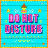 Do No Disturb Poster Stock Photo