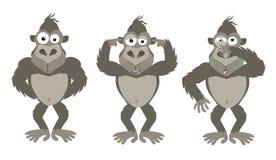 Do No Evil. Funny version of the speak no evil phrase. Eps10 stock illustration