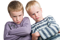 We do not agree. These two brothers do not agree Stock Photos
