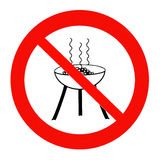 Do not barbeque!. Photographed warning sign Do not barbeque! and than worked out in PS vector illustration