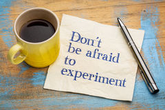 Do not be afraid to experiment Royalty Free Stock Photography