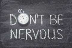 Do Not Be Nervous Watch Royalty Free Stock Images