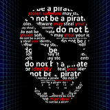 Do not be a pirate, concept of internet piracy Royalty Free Stock Images