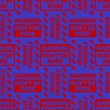 Do not be rude seamless pattern. Original design for print or digital media Stock Images