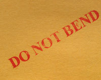 Do not bend royalty free stock image