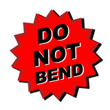Post mail sticker. Decal do not bend for post mail, web design or sticker Stock Photos