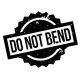 Do Not Bend rubber stamp Royalty Free Stock Image