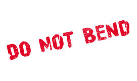 Do Not Bend rubber stamp Royalty Free Stock Photos