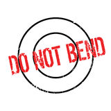 Do Not Bend rubber stamp Royalty Free Stock Images