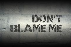 Do Not Blame Gr Royalty Free Stock Images