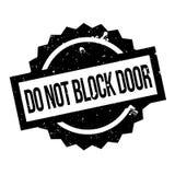Do Not Block Door rubber stamp Stock Photos