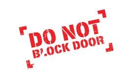 Do Not Block Door rubber stamp Royalty Free Stock Image