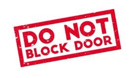 Do Not Block Door rubber stamp Stock Photography