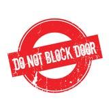 Do Not Block Door rubber stamp Royalty Free Stock Photo