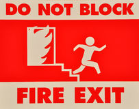 Free Do Not Block Fire Exit Sign Royalty Free Stock Photos - 24409578