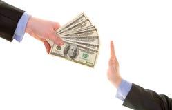 Do not  bribe Royalty Free Stock Image