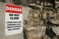 Do Not Climb Sign Stock Photos