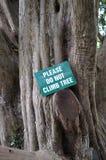Do not climb sign. Stock Image