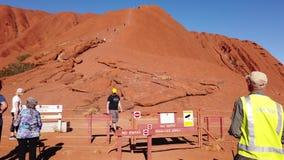 Do not climb Uluru sign with Ranger