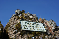 Do not climb on the walls Stock Photos