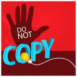 Do not copy with hand Vector Icon Illustration. EPS file available. see more images related vector illustration