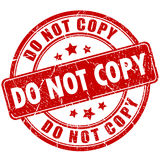 Do not copy rubber stamp Royalty Free Stock Photography