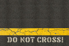 Do not cross concept Royalty Free Stock Photo