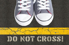 Do not cross concept Stock Images