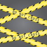 Do not cross the line caution tape Royalty Free Stock Photo