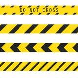 Do not cross the line caution tape Stock Photos