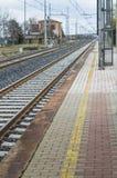 Do not cross the railway lines Stock Image