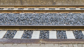 Do not cross the railway lines Royalty Free Stock Photography