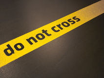 Do not cross sign. Do not trespass this line royalty free stock images