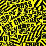 Do not cross tape Royalty Free Stock Image