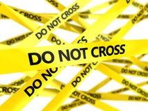 Do not cross tape Stock Image