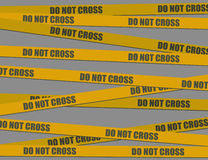 Do not cross (vector) Stock Photography