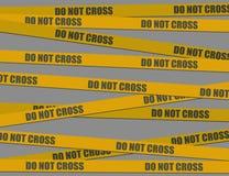 Do not cross (vector) Stock Photography