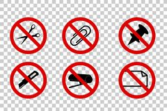 Do Not Cut, Scissor, Stapler, Clip, Pinned, Fold, at Transparent Effect Background. Vector Do Not Cut, Scissor, Stapler, Clip, Pinned, Fold, at Transparent Royalty Free Stock Photography