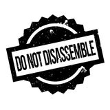 Do Not Disassemble rubber stamp Stock Photo