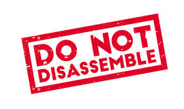 Do Not Disassemble rubber stamp Stock Image