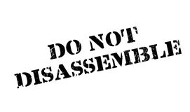 Do Not Disassemble rubber stamp Royalty Free Stock Photos