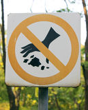 DO NOT DISPOSE OF WASTE IN PUBLIC. PARK Royalty Free Stock Image