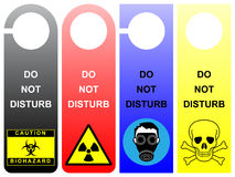 Do not disturb. Signs - pack 1 Stock Images