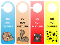 Do not disturb. Signs - pack 2 Stock Photography