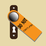 Do not disturb stock illustration